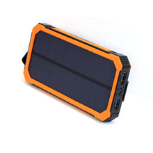 X-DRAGON 15000mAh Solar Power Bank Solar Charger Dual USB Portable Solar Battery Charger for Cell Phone Mobile most 5V USB Deice