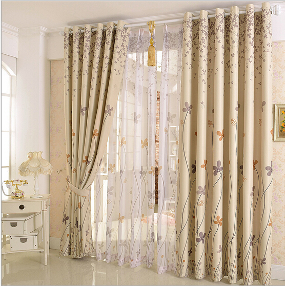 Pastoral custom curtains shading upscale living room for Curtains floor to ceiling windows