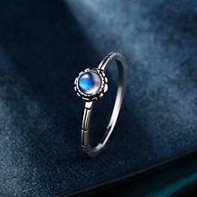 925 стерлингового серебра ювелирные изделия оптом модные популярные изысканный маленькая почка натуральный лунный свет shinv Lan Guangqiang кольцо(China (Mainland))