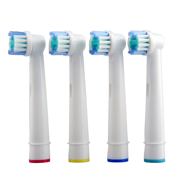 400pcs/lot 100Packs Electric Toothbrush Heads SB-17A Replacement Soft-bristled POM 4 Colors for Oral B 3D<br><br>Aliexpress