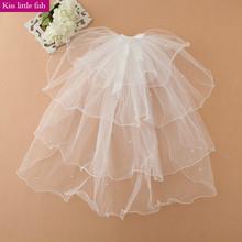 Free shipping Flower girls wedding party veils Fashion girls princess headwear Girls hair accessories(China (Mainland))