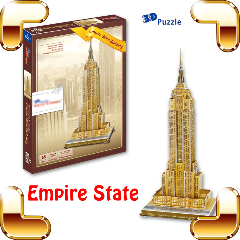 New Year Gift Empire State 3d Puzzle Model High Rise Building Structure Diy Toy Educational Game