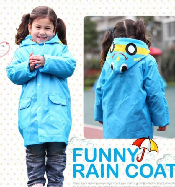 5 Pcs/lot,Kids Rain Coat Cartoon Children Raincoat Rainwear/Rainsuit,Kids Rain Suit Waterproof Animal Poncho Raincoat(China (Mainland))