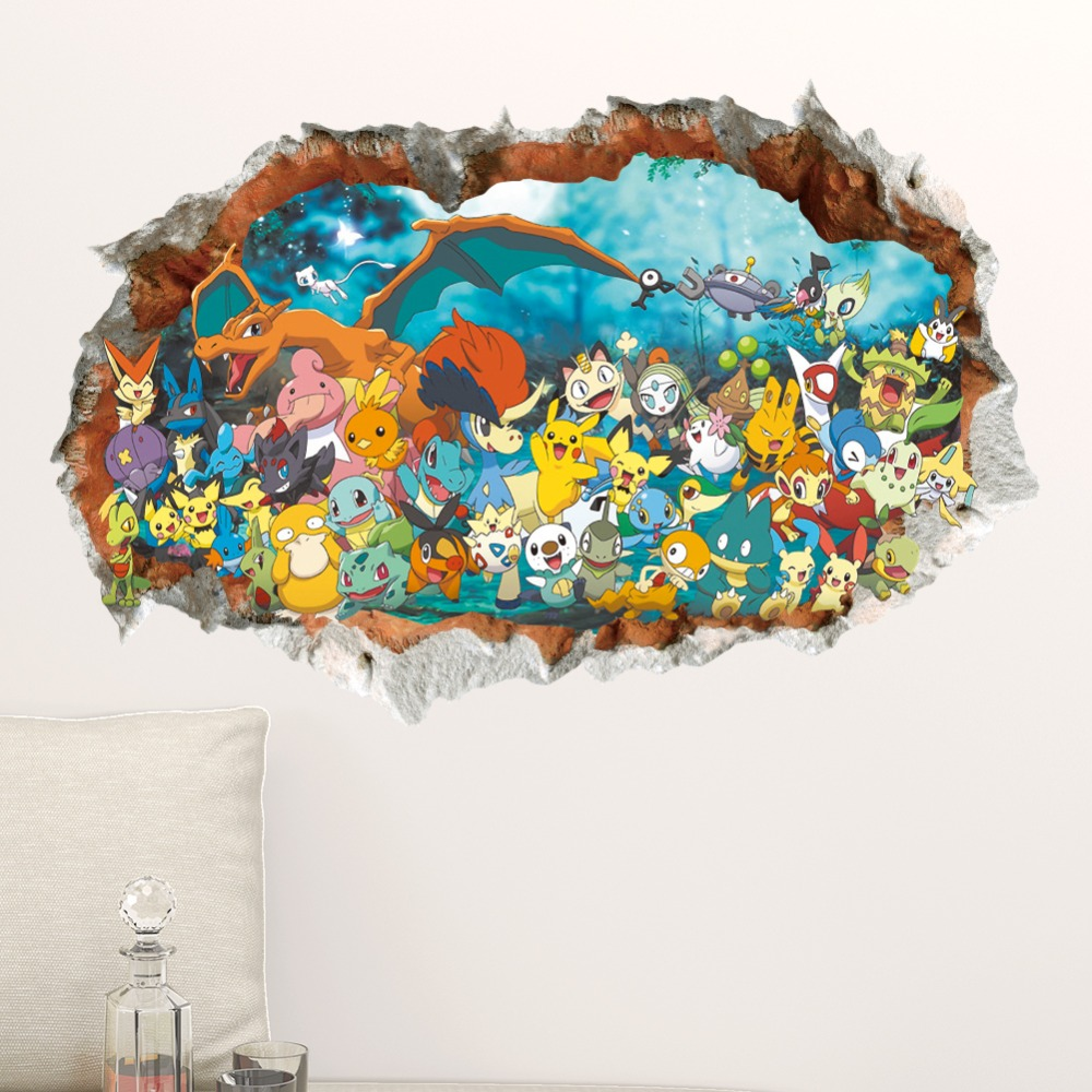 Pokemon Removable Wall Decorations