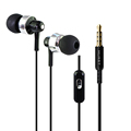 Fashion In Ear Earphones Wholesale With Wheat Computer Mobile Phone Headset Metal Heavy Bass Sound Quality