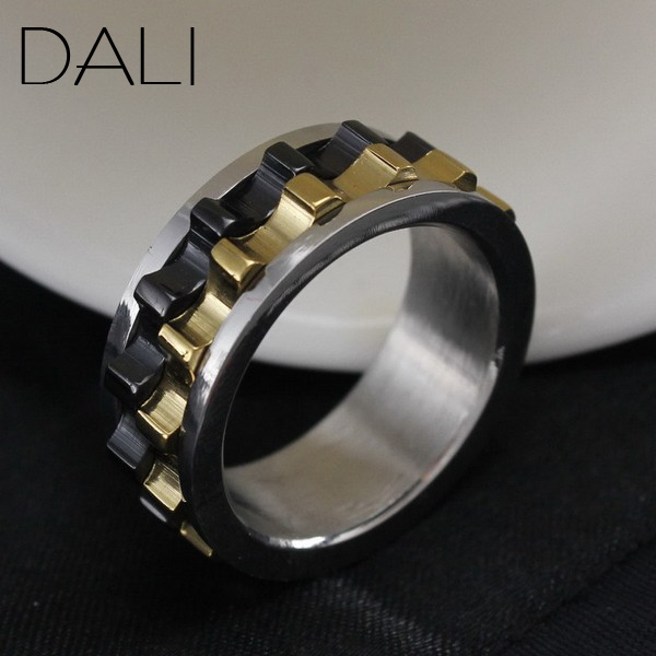Гаджет  Moveable Gear Ring,316 Stainless Steel Ring,Top Quality Titanium Ring,Wholesale Jewelry Supplier Free Shipping WTR15 None Ювелирные изделия и часы