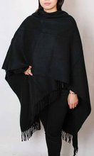 Free Shipping Black Winter Chinese Women's 100% Wool Shawl Scarf Thick Warm Wrap WS-243