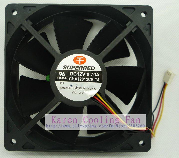 12cm CHA12012CB-TA 12038 12V 0.70A 3wire Cooling Fan<br><br>Aliexpress
