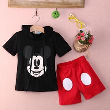 Bébé garçon bande dessinée vêtements 2016 été filles enfants Minnie Mouse vêtements hauts + robe tutu pantalons Outfit costume(China (Mainland))