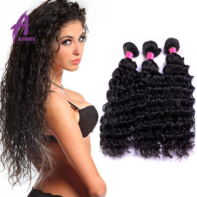 6a Grade Virgin Malaysian Deep Wave With Closure Alimice Hair Malaysian Virgin Hair With Closure Malaysian 3 Bundles And Closure<br><br>Aliexpress