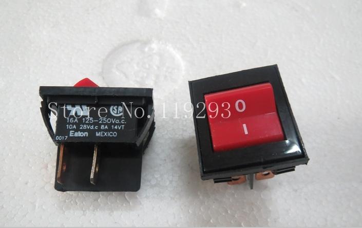 [SA]EATON EATON Rocker Switch 4 feet 2 files Rocker Switch the power switch 16 (4) A250V--10PCS/LOT<br><br>Aliexpress