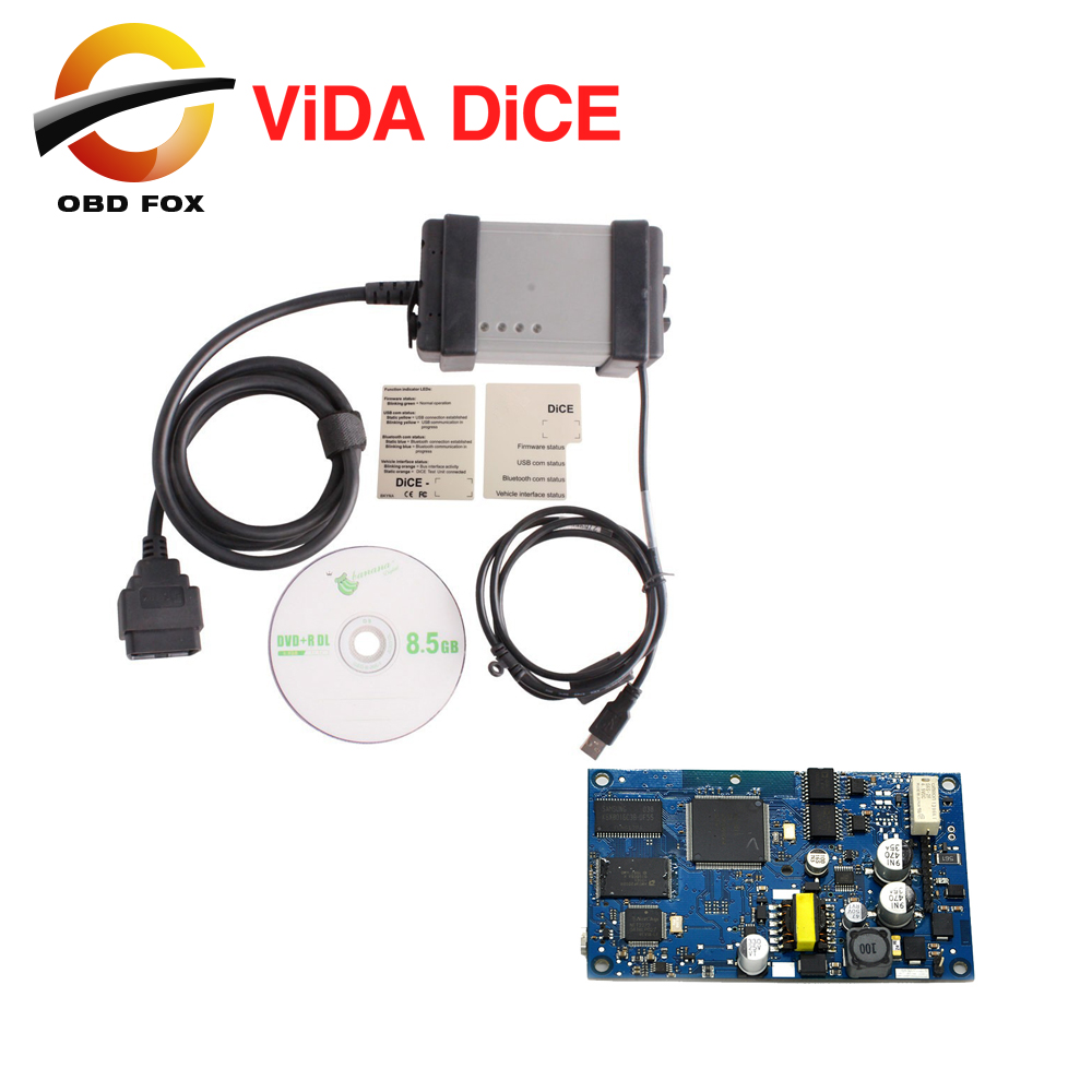 VOLVO Diagnostic Scanner Latest Version 2014D Multi-language Volvo Vida Dice with Blue Board Free Shipping(China (Mainland))