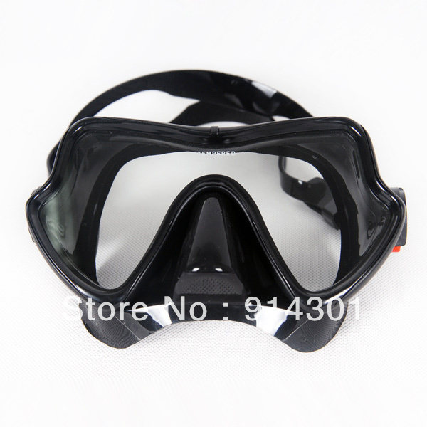Free shipping Safty tempered glass diving mask,carbon fiber screen mask