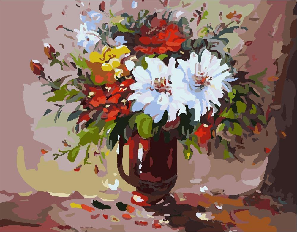 Acrylic Paintings Of Flowers In Vases 60752 Loadtve