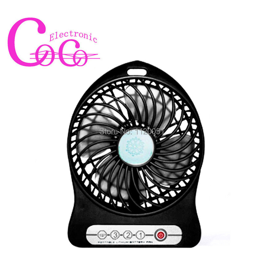 Three gear super speed MINI Li-ion battery Fan ,Battery and USB duplicate power supply Large air flow Fan for indoor and outdoor(China (Mainland))