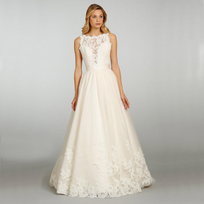 Sexy v back bateau neck ribbons belt lace a line wedding for Belt for lace wedding dress