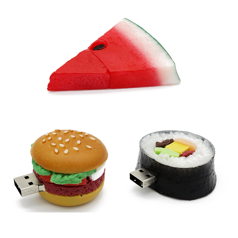 food usb flash drive creative hamburger sushi watermelon pendrive pen drive 4gb 8gb 16gb 32gb memory stick u disk gift toy drive(China (Mainland))