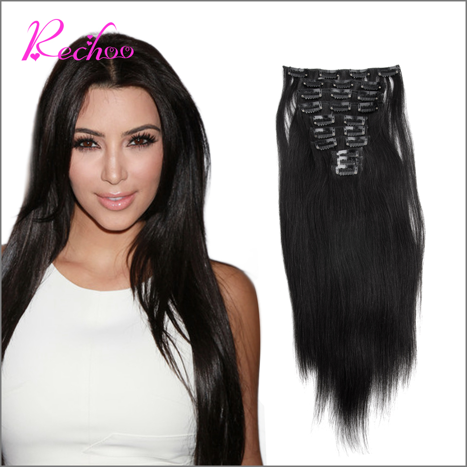 Remy Virgin Brazilian Hair Clip In Extensions 120g Clip In Brazilian