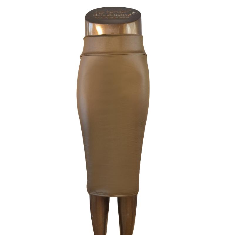 Formato-piu-A884-stringivita-ecopelle-matita-gonna-gonna-di-pelle-nera-S-M-L-XL