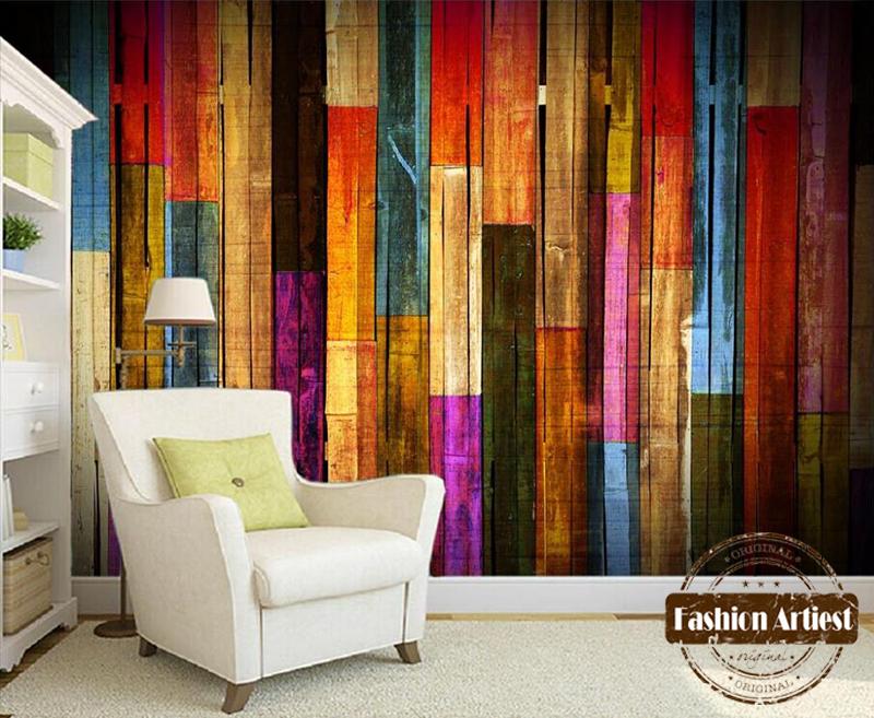 Custom modern 3d wallpaper mural vintage color wooden for 3d wallpaper for living room in nigeria