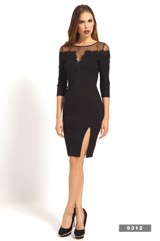 Mid Length Black Dresses