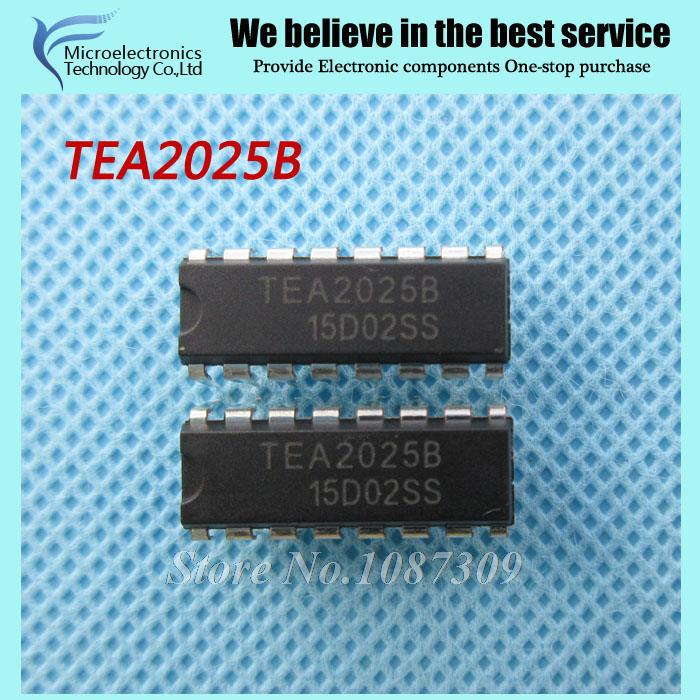 50pcs free shipping TEA2025B TEA2025 DIP-16 Audio Amplifiers Stereo Audio Amp new original(China (Mainland))