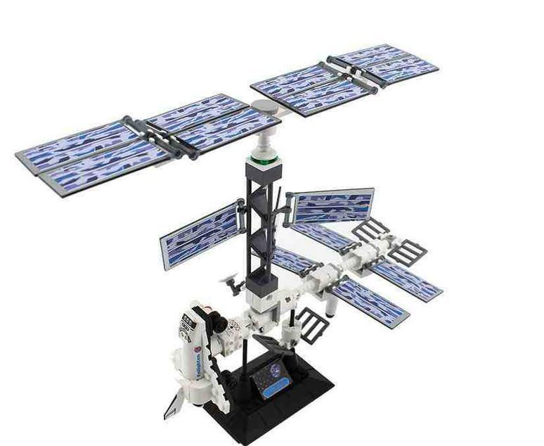 Explore outer space series international space station 3d for Outer space 3d model