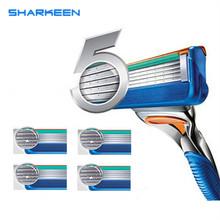 High Quality Sharkeen Face Care Shaving Razor Blade For Men Fusione Blades 4pcs/lot(China (Mainland))
