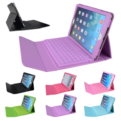 HOT Sale For soft iPad mini case Wireless Bluetooth Keyboard PU Leather Stand Case Cover For iPad Mini 1 2 3 Free Shipping(China (Mainland))