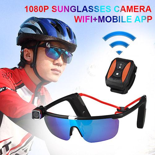 New Fashion 1080P Sunglasses Camera Wifi+Mobile APP  CL37-0010<br><br>Aliexpress
