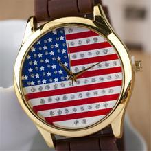 Envío gratis relogio masculino reloj de cuarzo, correa del silicón relojes mujer. mujeres del reloj digital de ee.uu. bandera de pulsera