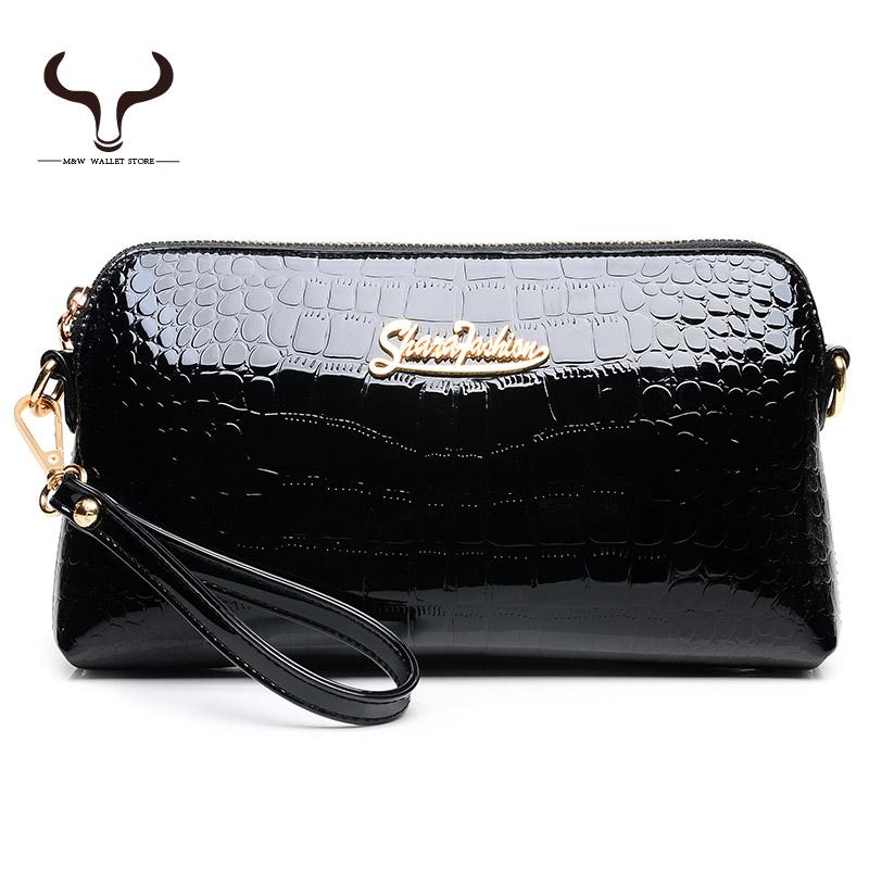 Fashion New Shiny Surface Pattern Alligator Women Wallet Patent Leather Long Wallets Designer Purses Women's Girl LF/BBM 8823(China (Mainland))