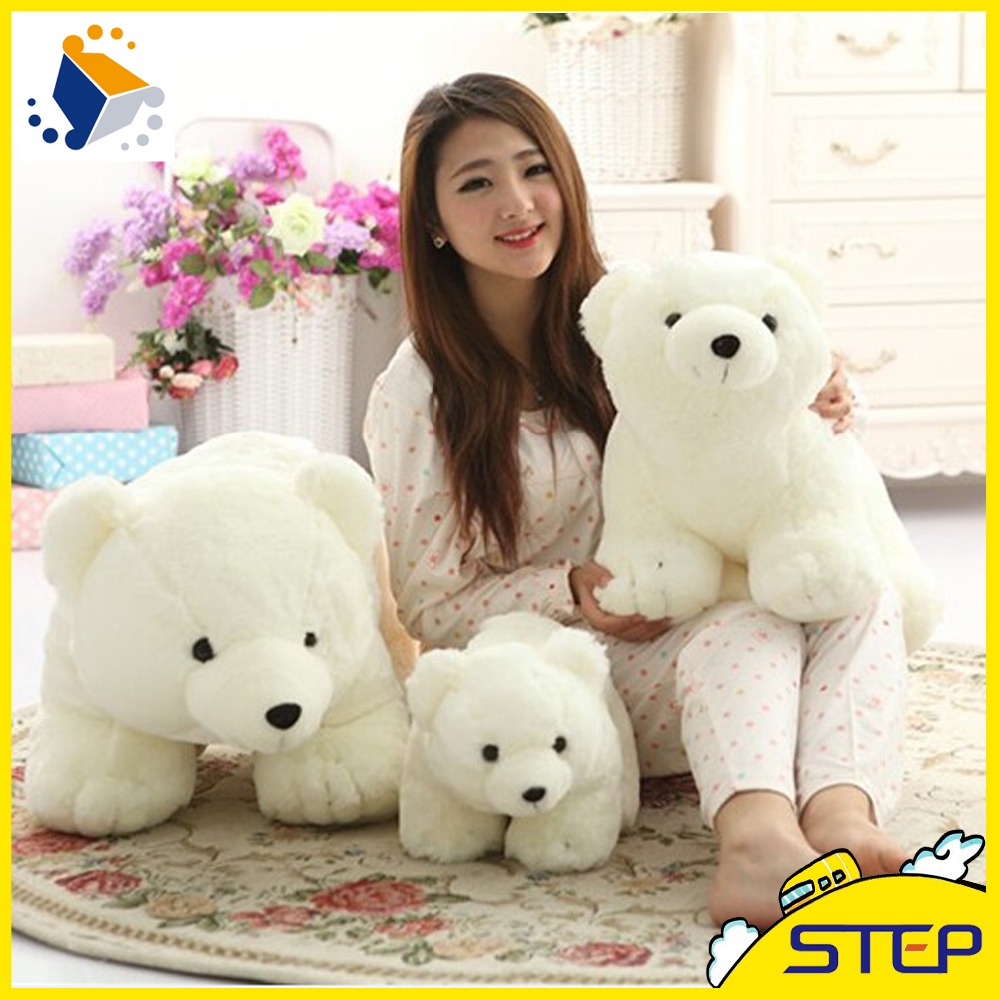 2016 New Arrival 35cm/45cm High Quality Cute Polar Bear Plush Toy Bear Stuffed Animal Toys Valentines Birthday Gifts ST227(China (Mainland))