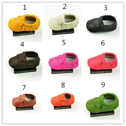 1 pair send -Baby Moccasins Soft Moccs Baby Shoes Newborn firstwalker Anti-slip Genuine Cow Leather Infant Footwear - JC'S STORE store