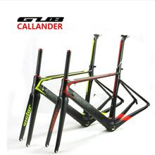 Buy CALLANDER carbon road frame T700 frame matt finish Carbon fiber bicycle frame road bike frame+Fork+Clamp+Seatpost for $545.51 in AliExpress store