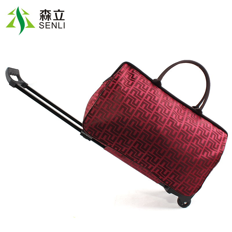 2014 New Fashion portable trolley bag Women waterproof travel draw-bar box suitcase