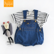 2016 Ins Baby Toddler Girl&boy  Rompers Cute Baby Overalls Summer Cotton Dual Crotch Baby Jumpsuits