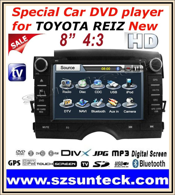 2011 New Special car dvd player 8 inch digital screen+GPS+2G SD Map card+IPOD+RDS+Bluetooth(China (Mainland))