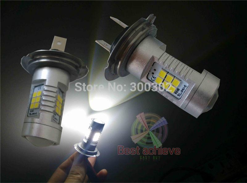 2PCS H7 80W 800 Lumens 21LED 2835 Samsung LED Fog led Light Bulb 10-30V more bright than 7.5W 11W 20W 30W 80W CREE(China (Mainland))