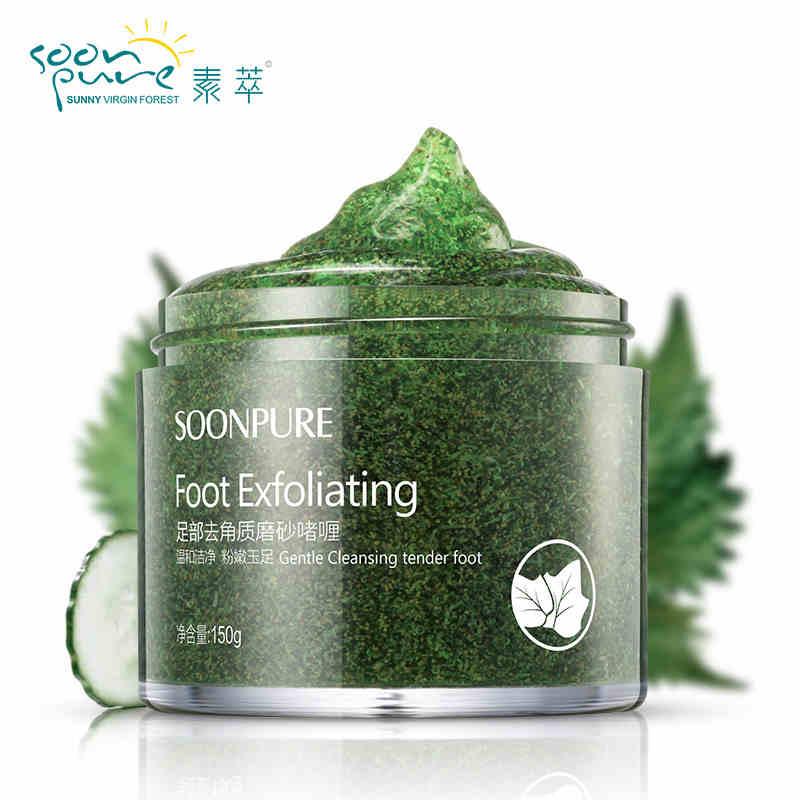 SOONPURE Foot Exfoliating Scrub Gel Foot Cream Exfoliating Foot Mask Feet Mask Feet Care Foot Care Whitening Skin Care(China (Mainland))