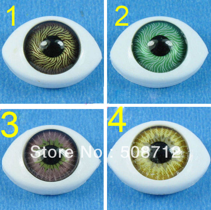 Free shipping!!!!Oval Natural Flat Back Paperweight Doll Eyes 9mm Mixed Color Can Choose<br><br>Aliexpress