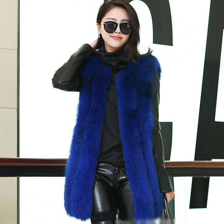 New Arrival Women Real Fur Vests High Quality Real Fox Fur Vest Real Fur Waistcoat For Women Free Shipping By DHL YC213