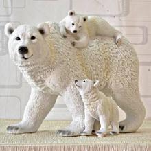 Bear Family Sculpture Resin