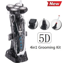 100-240v Original 5D Razor Electric Shaver For Men Rechargeable men's Shaving Machine with beard & nose trimmer+ toothbrush*4(China (Mainland))