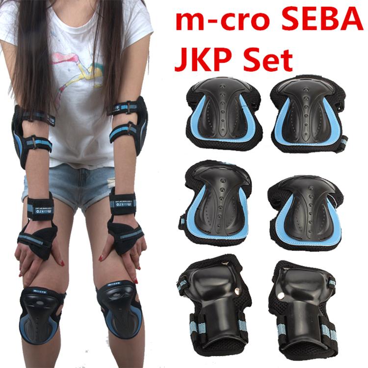 [Skating Protection] Original M-cro SEBA JKP Knee Wrist Elbow Protective Suit Pad, For Inline Roller Skates Trainning(China (Mainland))