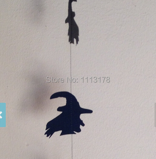 Spooky Witch Paper Garland, Halloween Garland Party Nautical Party Theme garlands(China (Mainland))