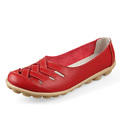 2015 New 10colors Women Genuine Leather Mother Shoes Moccasins Women s Soft Leisure Flats Female Driving
