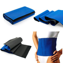 2016 Hot Selling Neoprene Waist Trimmer Sweat Fat Cellulite Burner Body Leg Slimming Shaper Exercise Wrap Belt In Blue