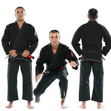 Top Quality Brazil Brazilian KORAL Jiu Jitsu Judo Gi Bjj Gi Classic Black Blue White Present white Belt kung fu A1-A5(China (Mainland))
