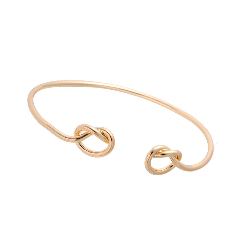 30pcs simple love jewelry New Fashion Heart Knot Bracelet Stack Bangle Cuff Adjustable Cuff in Silver Or Gold Bridesmaid gift G9